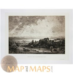 ANTIQUE ENGRAVING VIEW OF THE STARNBERG – LAKE E.D. SCHLEICK - W. HECHT 1883