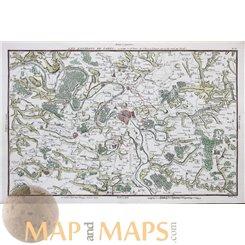 Paris Antique map Les Environs De Paris Philippe 1787
