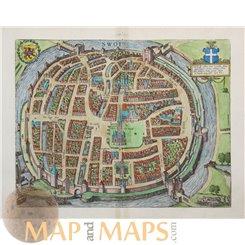 Zwolle Braun & Hogenberg Swol Civitatus Orbis Terrarum. 1572