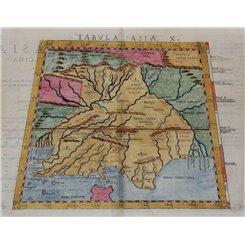 Tabula Asiae X-Map of India-Claudius Ptolemaeus 1574