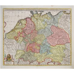 S. Imperium Romano-Germanicum Old map Eurpope by Vissher 1690