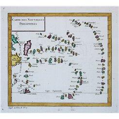 Philippines map Carte des Nouvelles Philippines. Bellin 1754