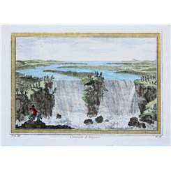 Cataracte de Niagara antique 1748 print Niagara Falls by Bellin