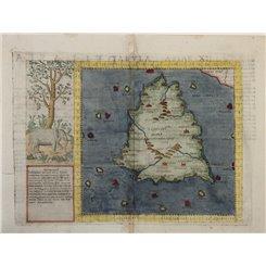 Tabula Asiae XII Ceylon Sri Lanka old map Ruscelli 1562
