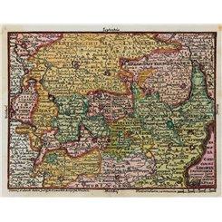 Germany map, Saxony Tabula Circubus Saxoniae Lotter 1760
