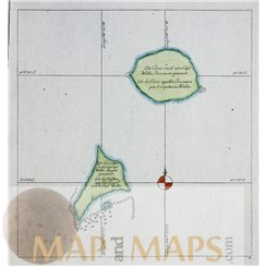 The Cosos and Traitor's Island by James Cook voyage map Cook 1778