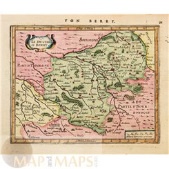 France maps Le Duche D'Berry Mercator/Janssonius 1628