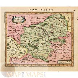 France maps Le Duche D'Berry Mercator/Janssomius 1628