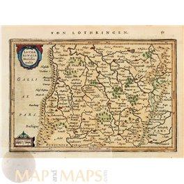 France maps Lothartingia Meridionalis Mercator/Janssonius 1628