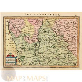 France Map Lothartingia Septentrional Mercator/Janssonius 1628