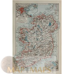 OLD MAP CHANGES TO THE SCHLESWIG HOLSTEIN NORTH SEA COAST GERMANY MEYERS 1905