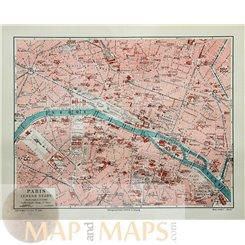 Paris Old Town Street Plan by Joseph Meyer 1905