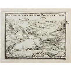 View of the Dardanelles to Constantinople de Fer 1700