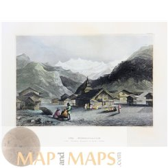 East Asia The Himalayas mountains Old print Meyer 1850