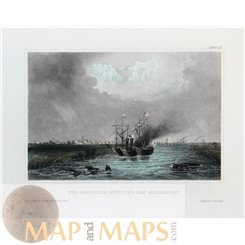 North America Mississippi River Antique Print Meyer 1856