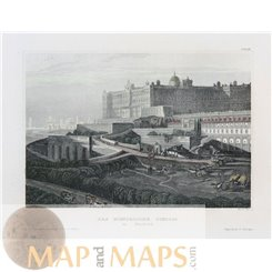 Spain Madrid The Royal Palace Antique print Meyer 1852