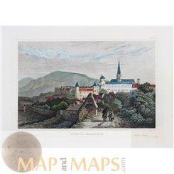 Paris old prints Chateau de Chambord France Meyer 1850