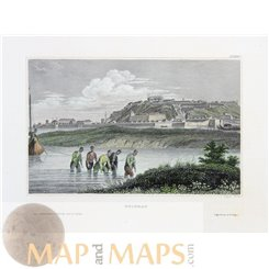Serbia old historical prints of Belgrade by Meyer 1836