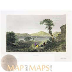 Greece old prints of Salamis Island by Joseph Meyer 1850
