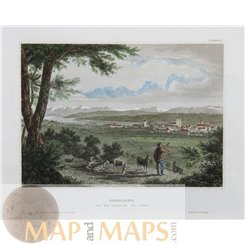 Constance - Lake Constance - Germany - antique print 1860