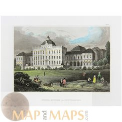 Germany Old prints Palace Ludwigsburg by Meyer 1837