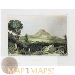 Germany old prints, Hohenstaufen mountain by Meyer 1850