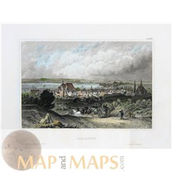 Germany antique prints, Schleswig Old Town, by Meyer 1850