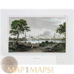 Germany Old antique prints of Hamburg by Meyer 1849