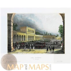 Bad Kissingen Germany Fine antique art print 1850