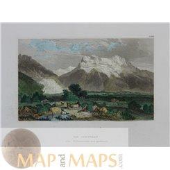 Switzerland prints, The Jungfrau Bernese Alps, Meyer 1840