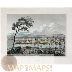 Turkey old prints, Constantinople Istanbul by Kelly 1834
