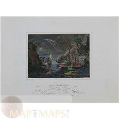 Bible History, The Flood, antique print after Tenier 1848