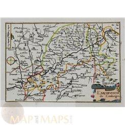 Germany antique map L'Archeuesche De Cologne Tassin 1633