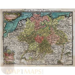 Germany maps, Germania H. Romische Reich by Lotter 1760