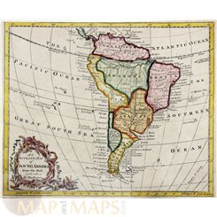 South America antique map Thomas Bowen 1780