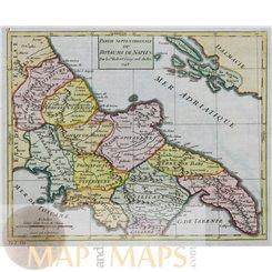 Italy maps, Kingdom of Naples, Royaume de Naples by Vaugondy 1748