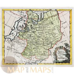 RUSSIA LAPLAND NOVAGROD MOSCOW OLD MAP JEFFERSON 1712