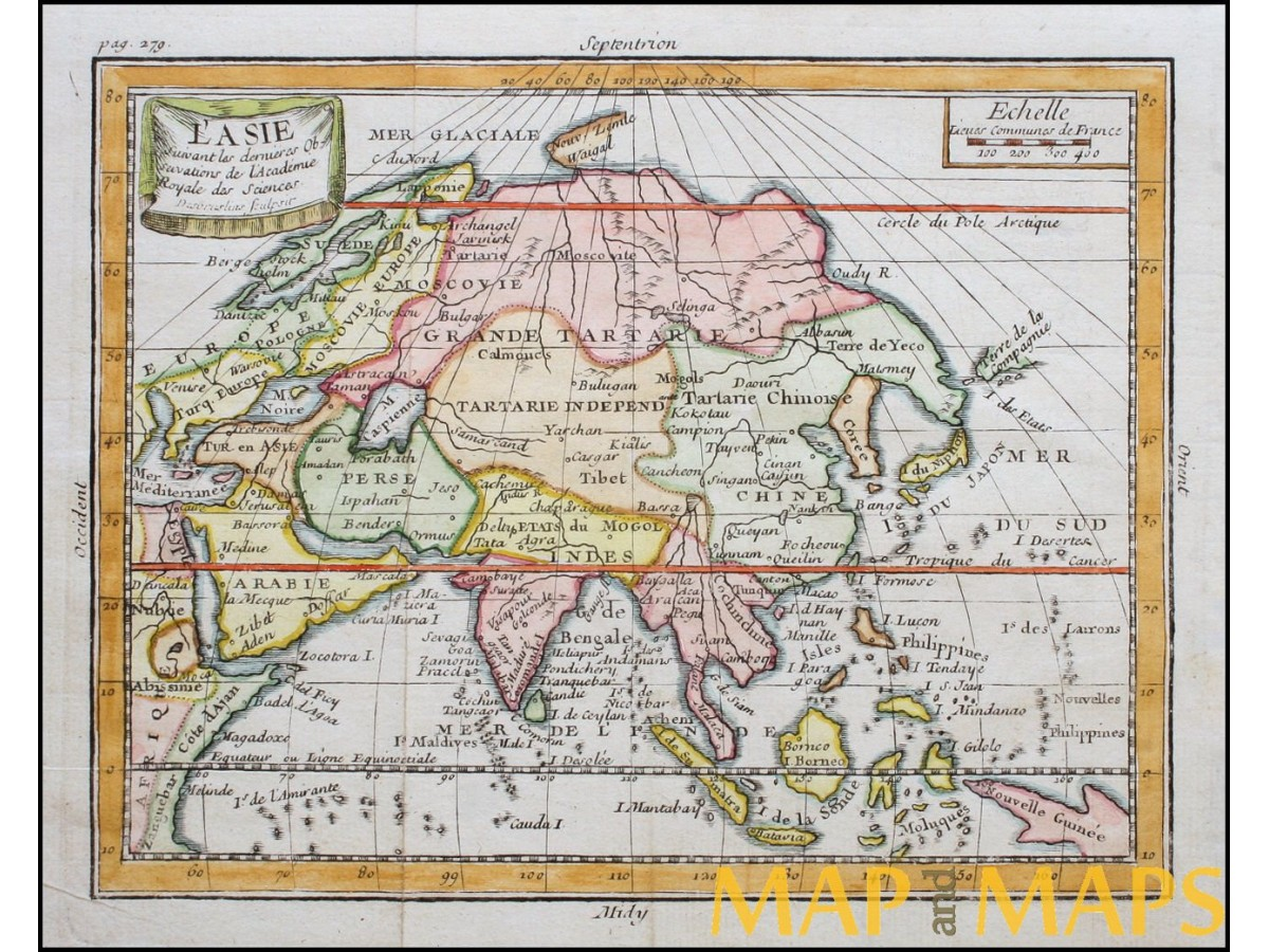 Map Of Asia Japan And China.Asia Japan Korea China India Antique Map Claude Buffier Mapandmaps