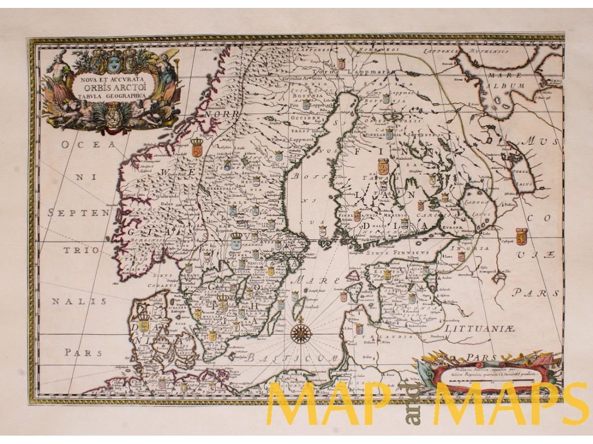 Karte Norwegen Schweden.Skandinavien Norwegen Schweden Finnland Litauen Estland Alte