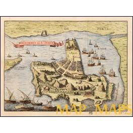 Persian Gulf Kingdom Ormus Iran antique map by Bellin 1746